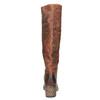 Vysoké kožené kozačky ve Western stylu bata, hnědá, 696-3608 - 17