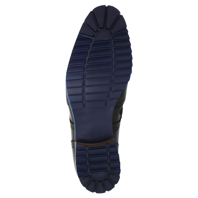 Kožená kotníčková obuv s modrou podešví conhpol, černá, 894-6682 - 26