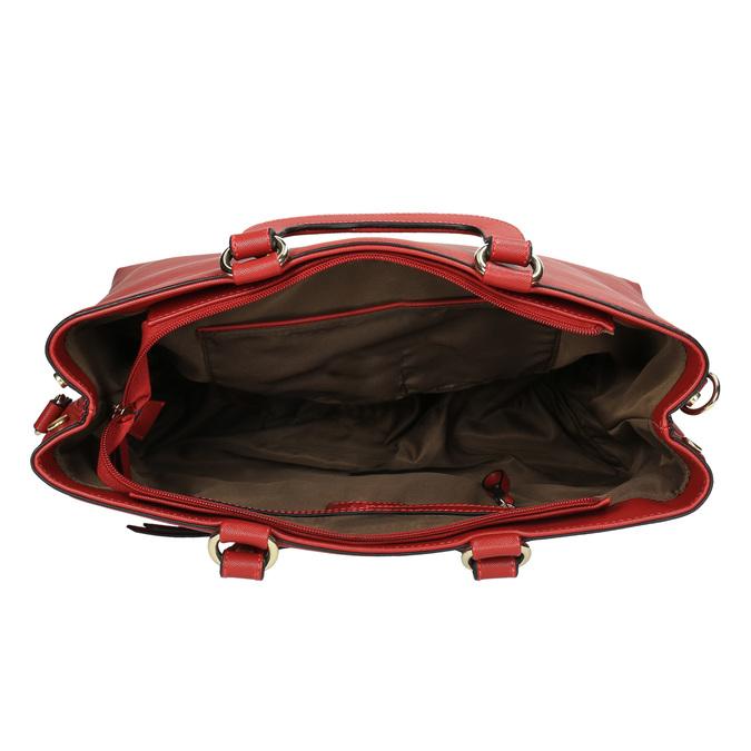 Červená dámská kabelka bata, červená, 961-5627 - 15