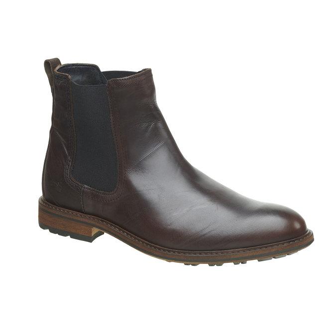 Kožená Chelsea obuv bata, hnědá, 894-4113 - 13