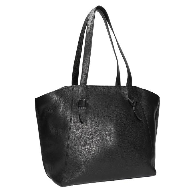Černá kožená kabelka bata, černá, 964-6205 - 13