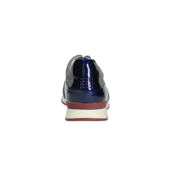 Kožené tenisky s lesklými prvky tbs-, šedá, 626-9060 - 17