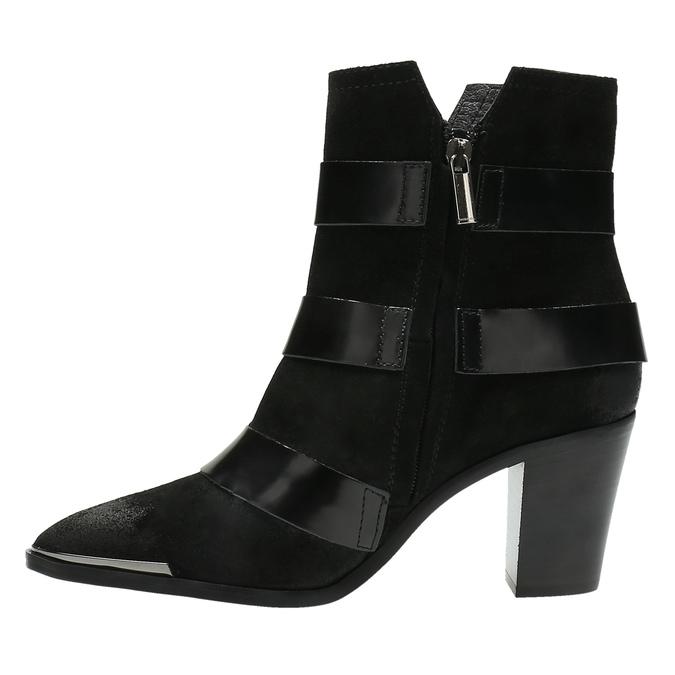 Kožená kotníčková obuv s přezkami diesel, černá, 723-6421 - 26