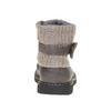 Dětská obuv s pleteným lemem mini-b, šedá, 291-2154 - 17