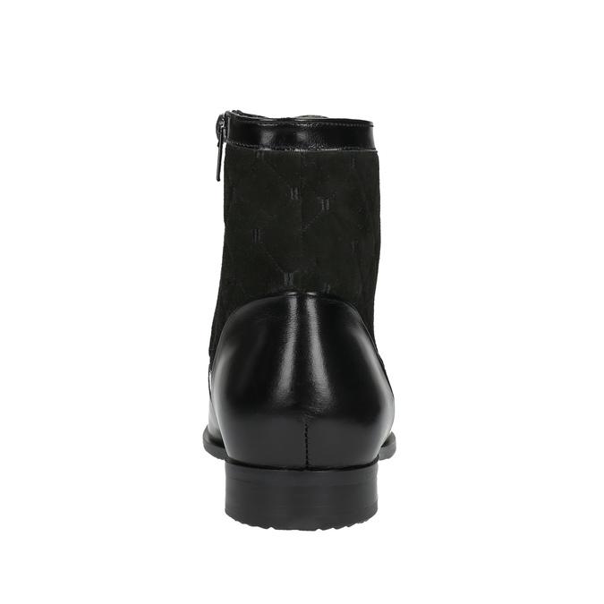 Kožená kotníčková obuv se zateplením conhpol, černá, 894-6677 - 17