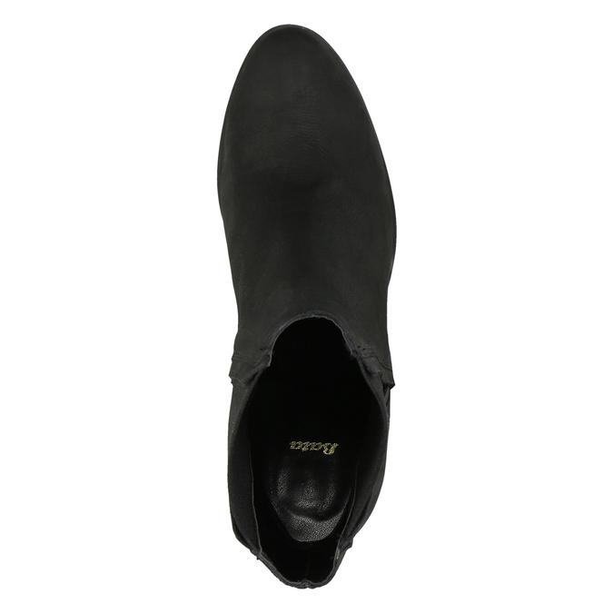 Dámská kotníčková obuv na masivním podpatku bata, černá, 796-6634 - 19