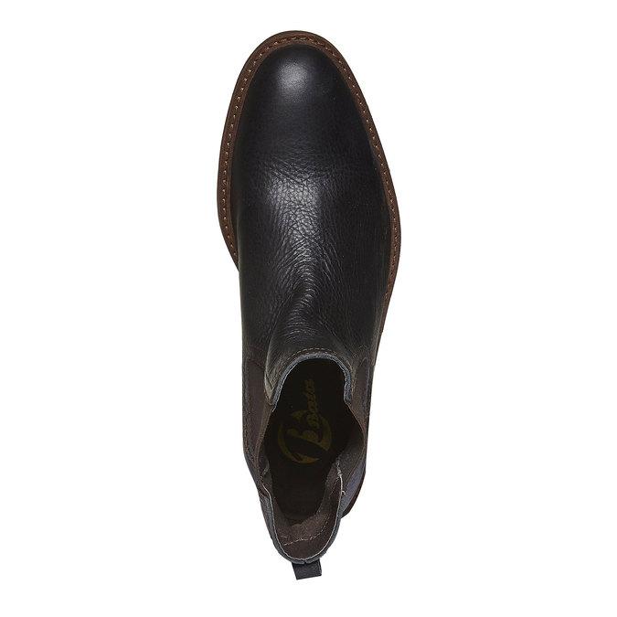Kožená Chelsea obuv bata, černá, 894-6113 - 19
