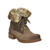 Dámská zimní obuv s kožíškem bata, hnědá, 591-3605 - 13