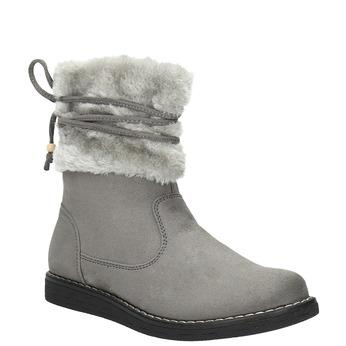 Dětská obuv s kožíškem mini-b, šedá, 399-2247 - 13