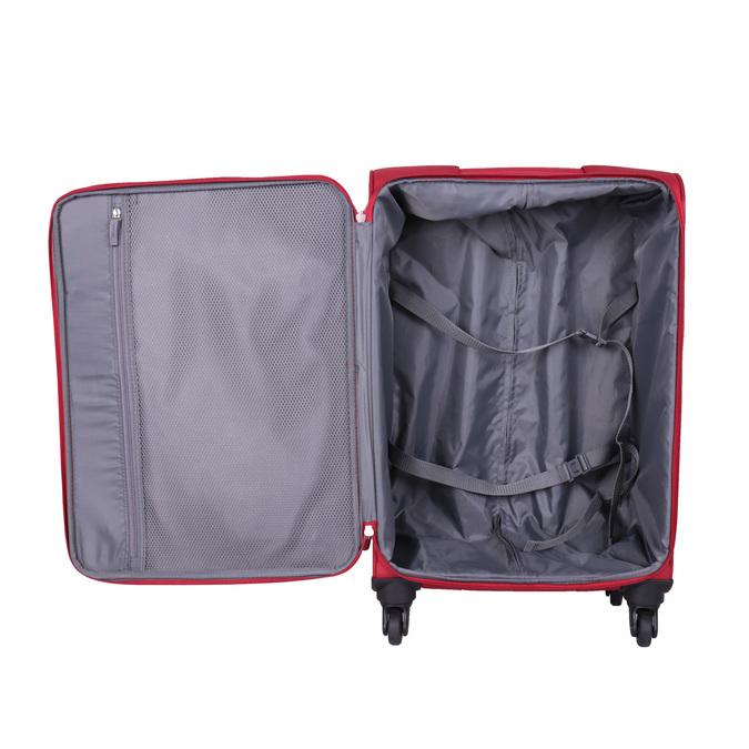 Červený cestovní kufr na kolečkách american-tourister, červená, 969-5208 - 15