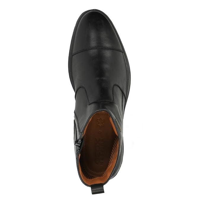 Kožená kotníčková obuv s prodyšnou podešví geox, černá, 814-6030 - 19