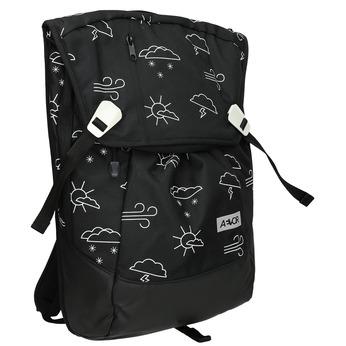 Ležérní batoh se vzorem aevor, černá, 969-6064 - 13