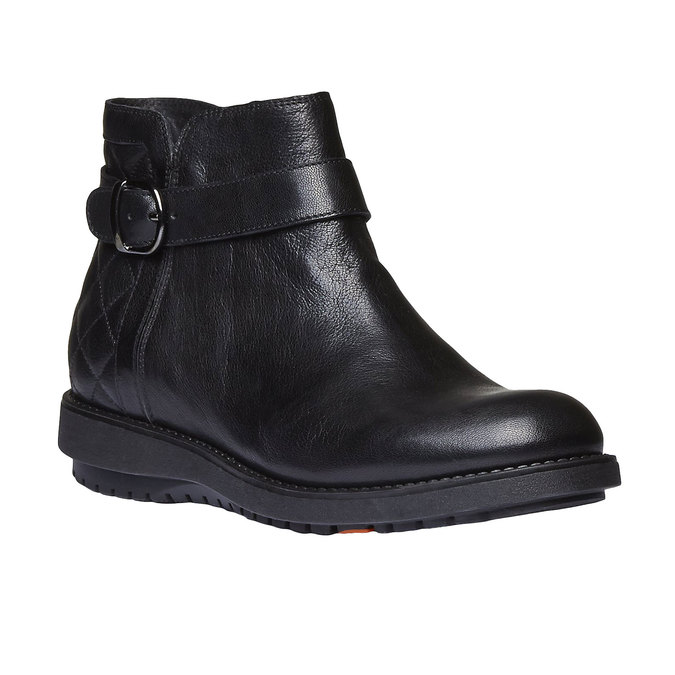 Kotníčková obuv s prošitím flexible, černá, 594-6229 - 13