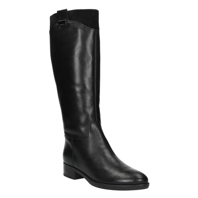 Dámské kožené kozačky geox, černá, 594-6035 - 13
