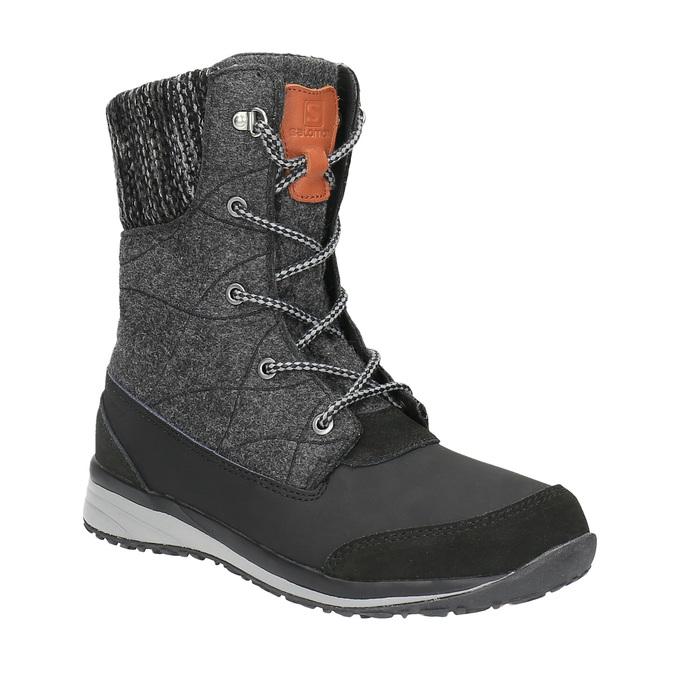 Dámská zimní obuv salomon, šedá, 693-6050 - 13