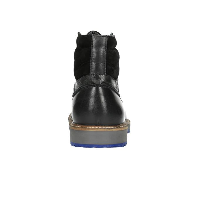 Kožená zimní obuv na výrazné podešvi bata, černá, 894-6658 - 17