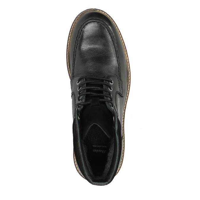 Kožená zimní obuv na výrazné podešvi bata, černá, 894-6658 - 19