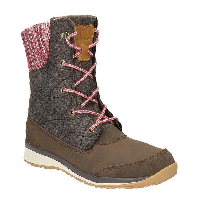 Dámská zimní obuv salomon, hnědá, 693-4050 - 13