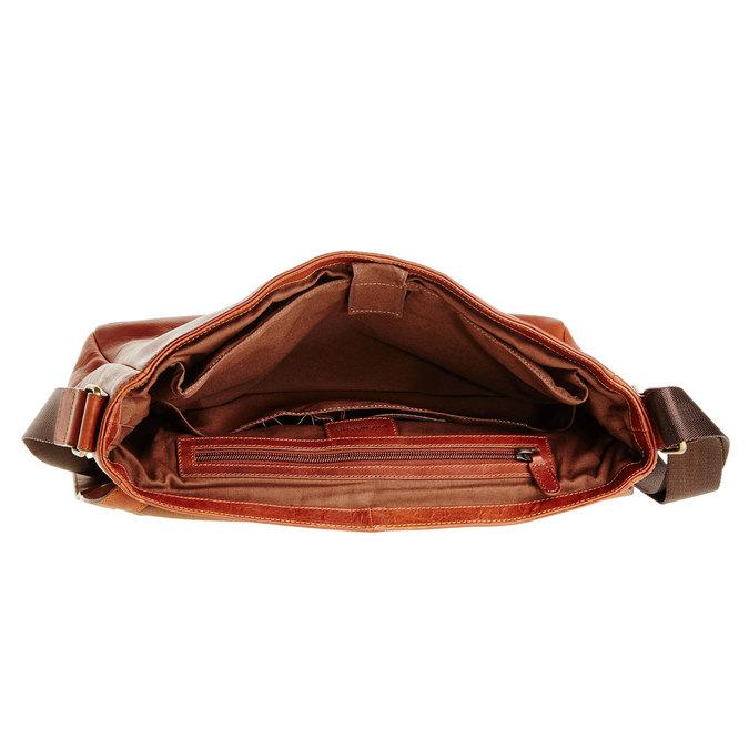 Kožená aktovka vagabond, hnědá, 964-4187 - 15