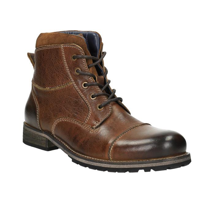 Kožená pánská obuv bata, hnědá, 894-3650 - 13