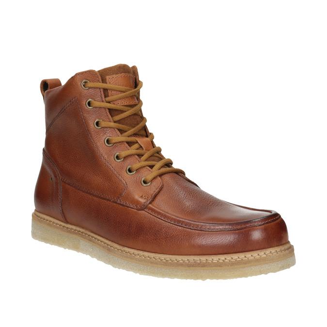 Kožená kotníčková obuv pánská bata, hnědá, 896-3652 - 13