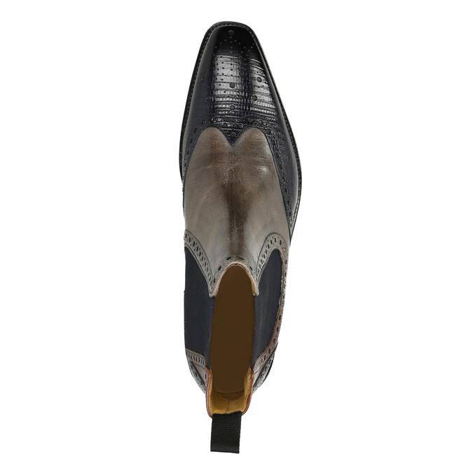Kožené Chelsea Boots s Brogue zdobením, hnědá, 894-3009 - 19