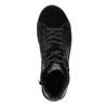 Kožené kotníčkové tenisky se stříbrnými odlesky bata, černá, 596-6613 - 19