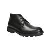 Pánská kožená obuv na výrazné podešvi bata, černá, 844-6628 - 13