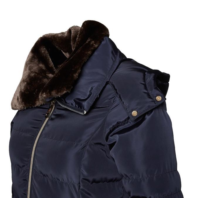 Dámská zimní bunda s kožíškem bata, modrá, 979-9649 - 16