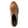 Kožené kotníčkové kozačky s pružnými boky vagabond, hnědá, 794-3003 - 19