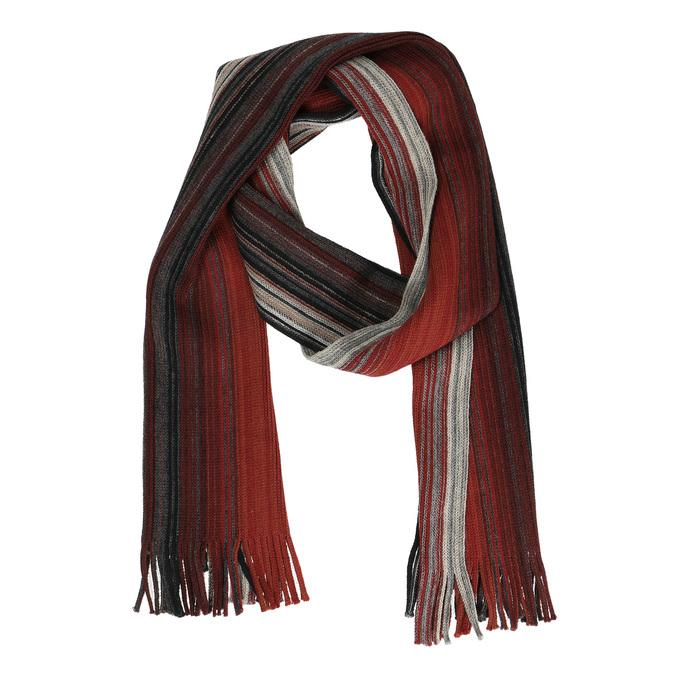 Pánská pruhovaná šála bata, červená, 909-5228 - 13