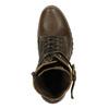 Kožená kotníčková obuv na podpatku manas, hnědá, 696-7601 - 19