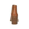 Kožené kotníčkové kozačky s pružnými boky vagabond, hnědá, 794-3003 - 17
