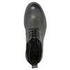Kožená kotníčková obuv s Brogue zdobením bata, šedá, 896-2646 - 19