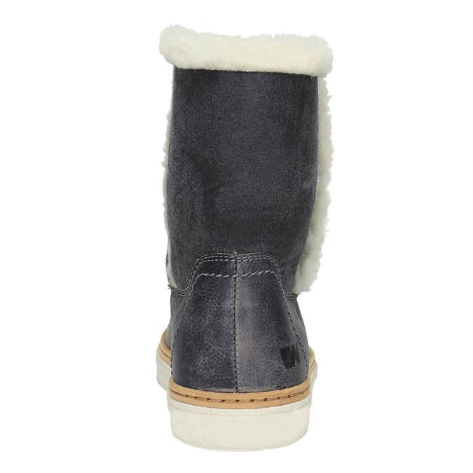 Kožená zimní obuv s kožíškem weinbrenner, modrá, 596-6628 - 17
