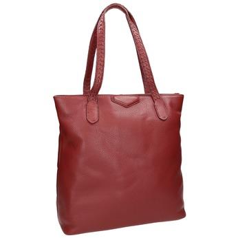 Červená kožená kabelka bata, červená, 964-5213 - 13