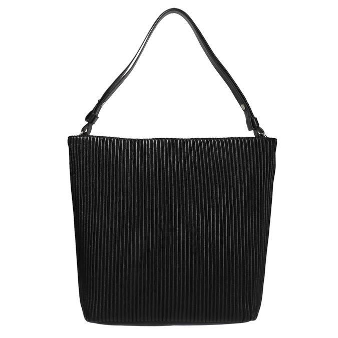 Kožená kabelka v Hobo stylu bata, černá, 964-6216 - 19