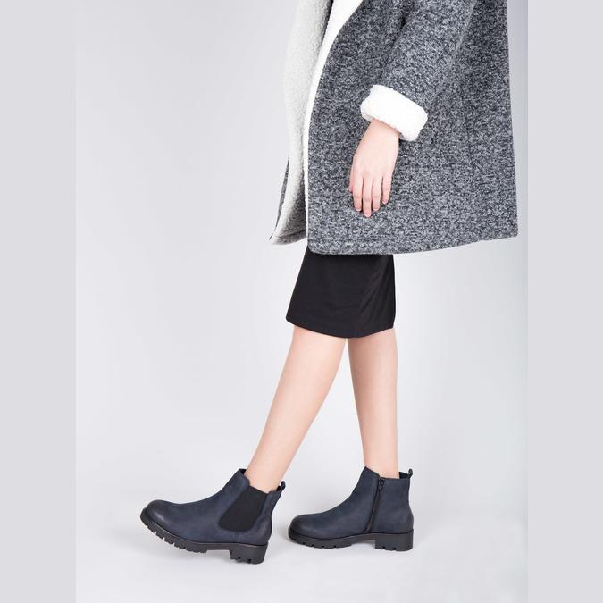 Dámská kotníčková obuv bata, modrá, 696-9606 - 18