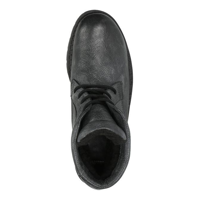 Pánská kožená kotníčková obuv bata, šedá, 896-2653 - 19