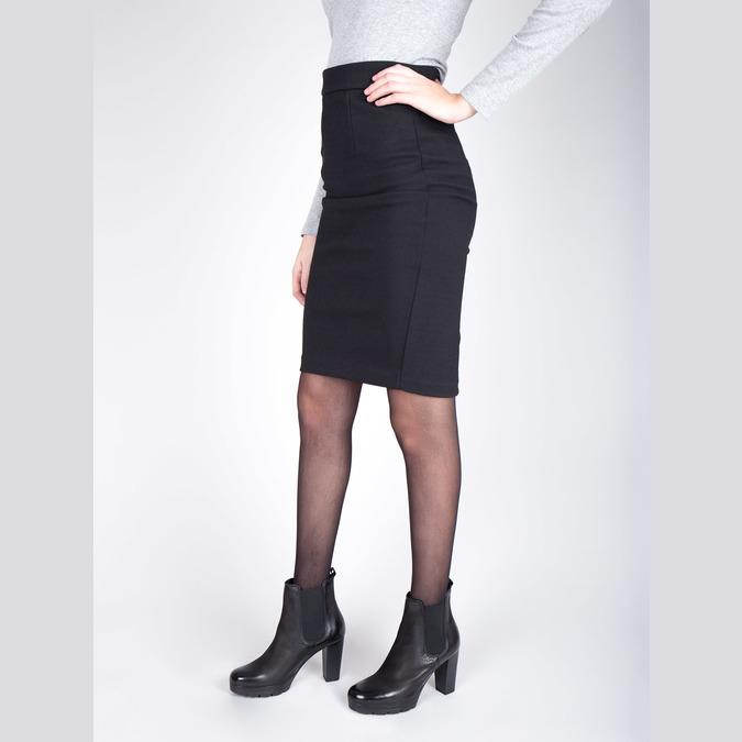 Kožená kotníčková obuv na vysokém podpatku bata, černá, 796-6604 - 18