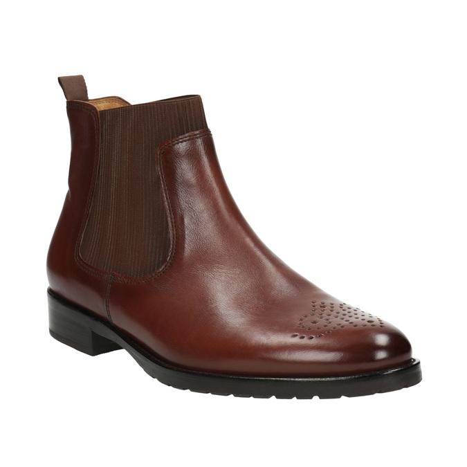 Kožená dámská Chelsea obuv gabor, hnědá, 516-3013 - 13