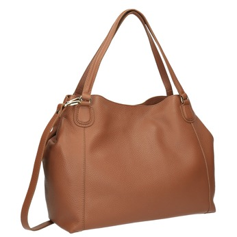 Hnědá kožená kabelka bata, hnědá, 964-3215 - 13