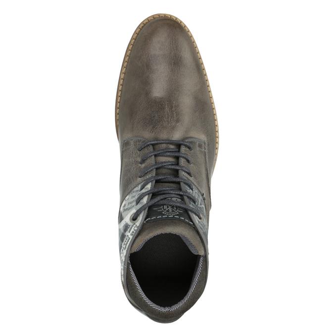 Ležérní pánské polobotky bata, šedá, 826-2735 - 19