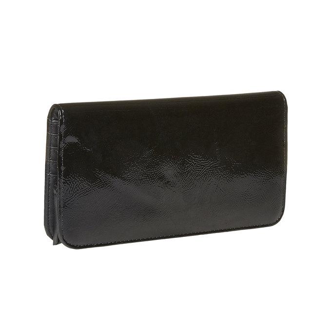Dámská lakovaná peněženka bata, černá, 941-6144 - 13