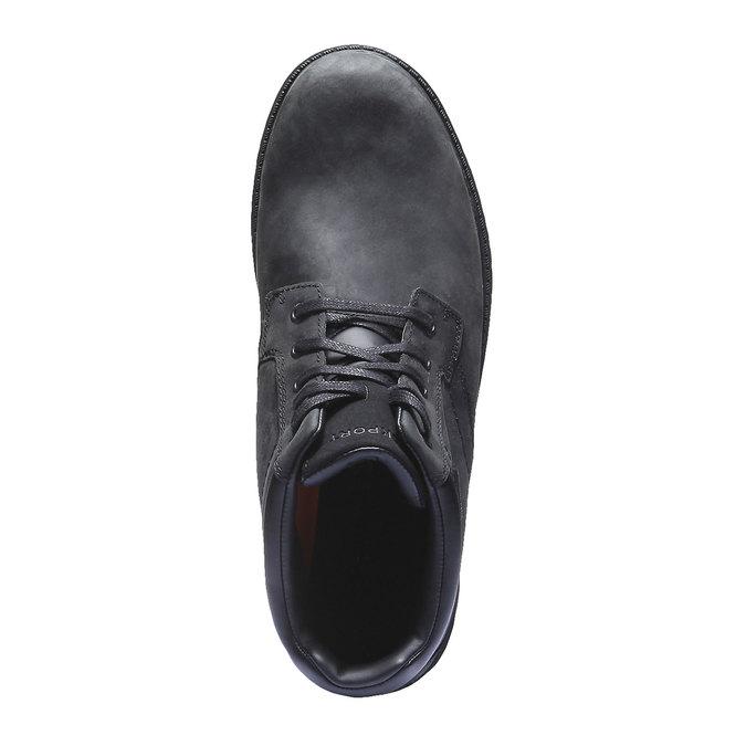 Kožená kotníčková obuv rockport, černá, 896-6411 - 19