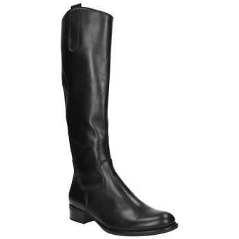 Dámské kožené kozačky gabor, černá, 694-6104 - 13
