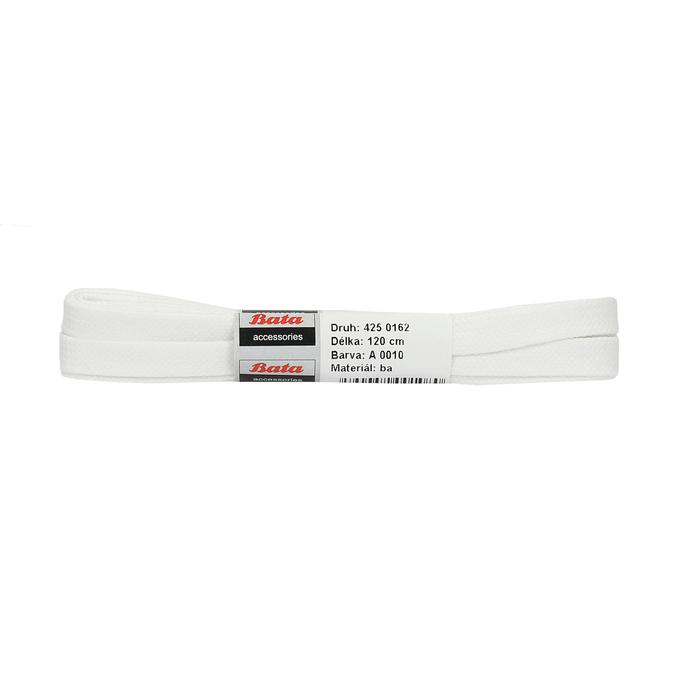 Bílé tkaničky bata, bílá, 901-1122 - 13