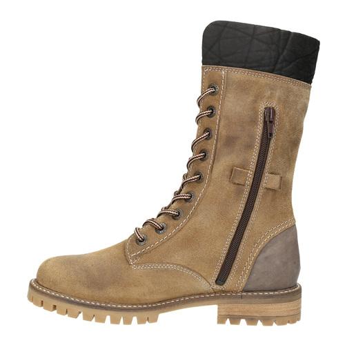 Dámská zimní obuv s kožíškem weinbrenner, žlutá, 593-8476 - 19