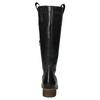 Kožené kozačky s masivní podešví bata, černá, 594-6613 - 17
