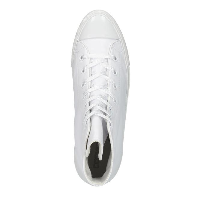 Kožené kotníčkové tenisky bílé converse, bílá, 546-1082 - 19